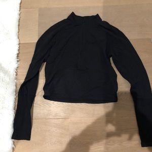 Tops - black lululemon crop zip up
